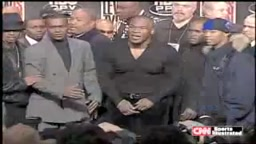 Mike Tyson Flips out at Tyson-Lewis Press Conference