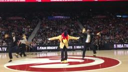 Atlanta Hawks Mascot has all the dance moves