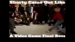 Shorty Came Out Dancing Like a Video Game BOSS!