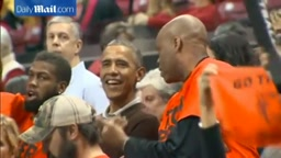 President Obama cheers on niece at Princeton vs Maryland game