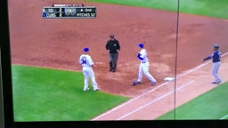 That's the SMARTEST play in the history of baseball Chicago Cubs ace Jon Lester couldn't get the ball out of his glove.