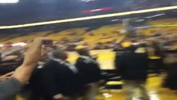 Stephen Curry Hits  Insane Shot during pregame
