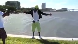 LMFAO Rapper Falls in the OCEAN posing during photo shoot