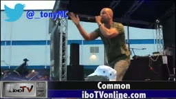 Common brings out Foxy Brown during the Brooklyn Hip-Hop Festival 2015