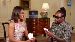 First Lady Michelle Obama interview with Rapper Wale