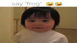 LOL! Watch this cute little Girl Say FROG....
