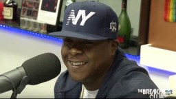 Jadakiss at The Breakfast Club to promote Top 5 Dead Or Alive