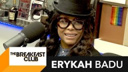 LOL! Erykah Badu chops it up with The Breakfast Club for the FIRST Time