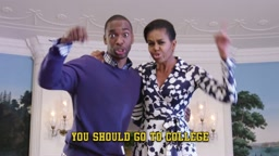 LOL! Watch Michelle Obama Drop BARS In Rap Music Video 'Go To College'