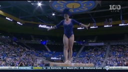 Gymnast Sophina DeJesus adds the Moon Walk into her latest routine