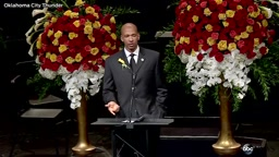 WATCH: Powerful and moving euology from Oklahoma City Thunder coach Monty Williams at his wife's funeral