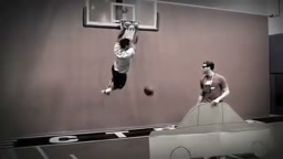 NFL Football Players Dunking