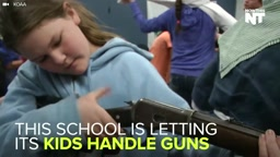 Why does this School let kids play with REAL GUNS