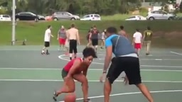 Hoopz Plays Basketball In ity bity Boy Shorts