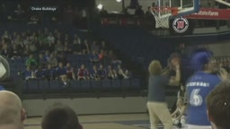 Drake University student won a car after hitting half court basketball shot