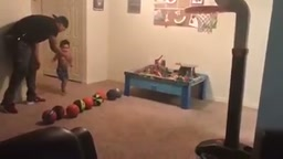 16 Month Old shoots like Steph Curry
