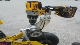 AWESOME motorbike runs off Cordless power drill