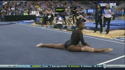 UCLA Gymnast 'Hallie Mossett' Channels Beyonce For Her Floor Routine