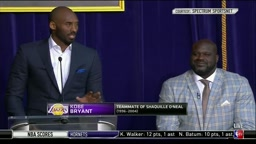 Kobe Gives Shaq Props 'Most Dominant Player I've Ever Seen' at Statue Unveiling