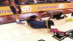 Biggest Flopper!! LeBron James Gets Elbowed In Back & Acts Like He's Shot!
