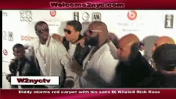 P Diddy Storms the Red Carpet with Rick Ross Dj Khaled and More